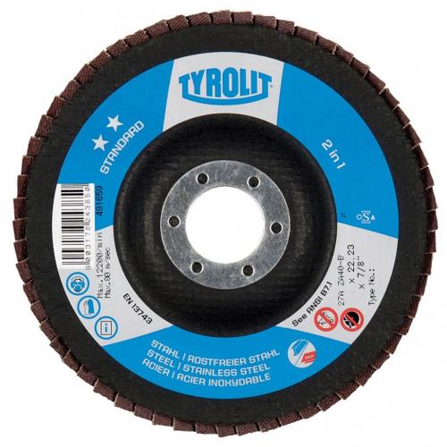 Tyrolit Flap Discs 178mm Zirconium 120G Conical