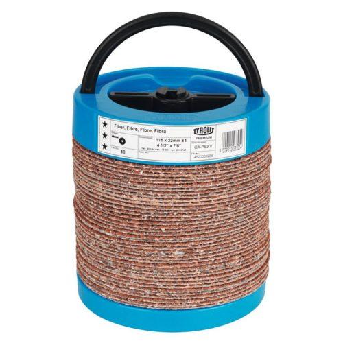 Tyrolit Ceramic Premium Fibre Disc 115mm 40G Spined