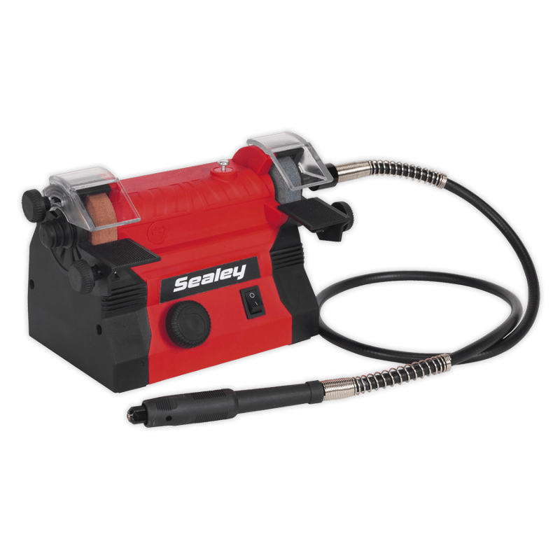 Sealey 50mm Mini Bench Grinder With Flexible Drive Shaft Dr Weld