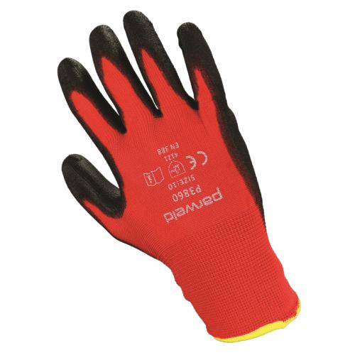 P3860 PU gripper glove