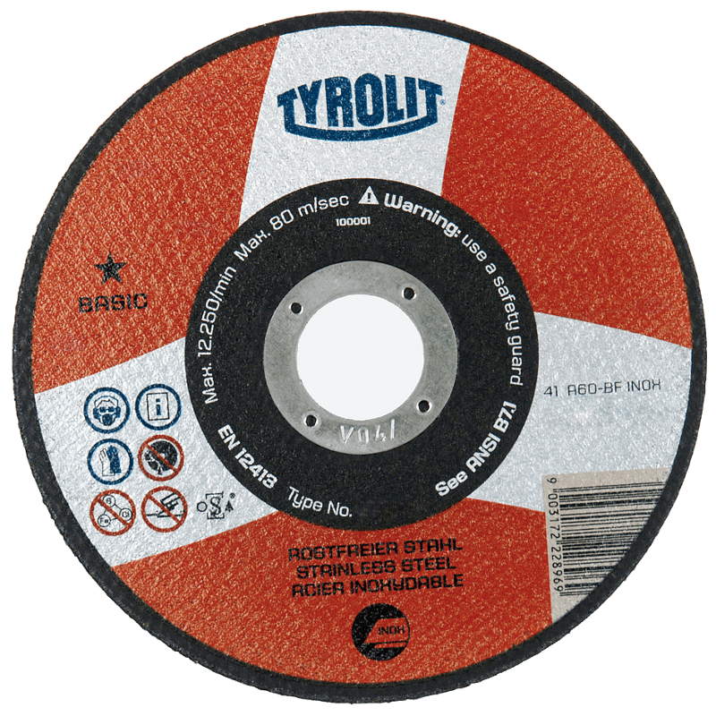 Tyrolit basic metal cutting disc